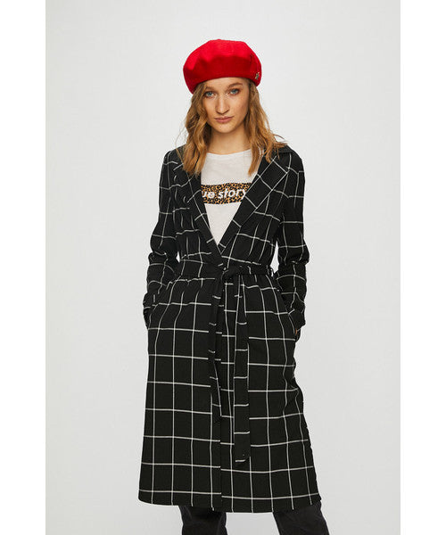 Coat | Black - Grey Checks