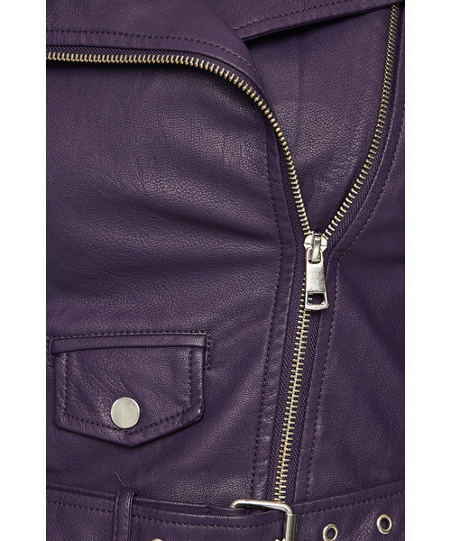 Biker Jacket  | Purple