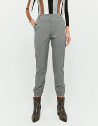 Tapered Trousers | Gris Chine