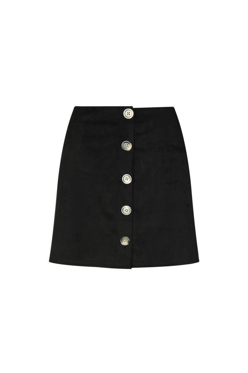 Suedette Skirt | Black