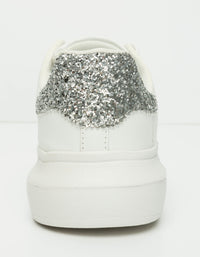 Sneakers  | White-Glittery Detail