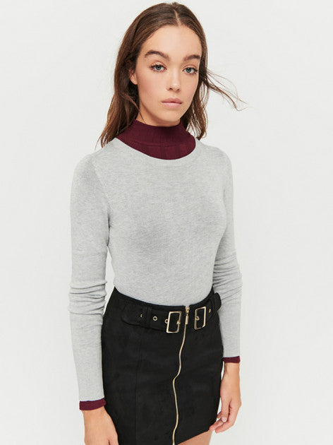 Fitted Jumper | Grey