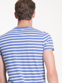 T.Shirt with Print | Blue Stripes