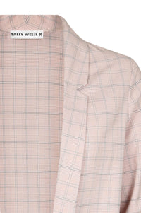 Vest Long Sleeves | Pink Checked