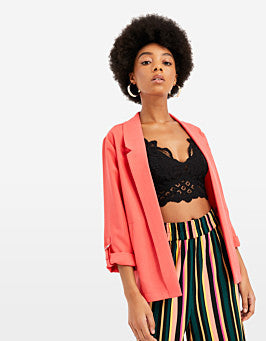 Open Front Blazer | Red