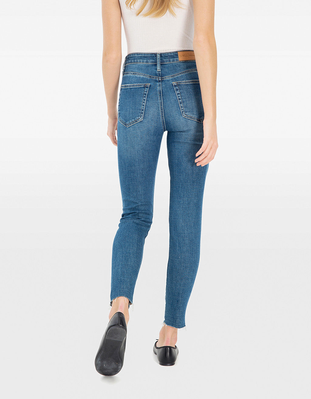 Mom Slim Mid Waist Jeans | Denim Blue (EHMD)