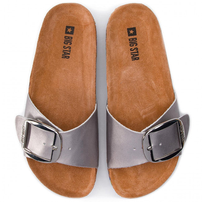 Women's Slippers | Silver