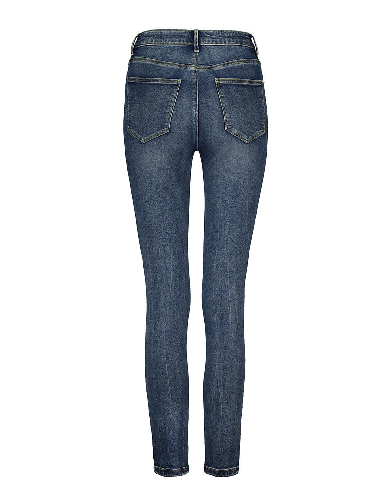 High Waist Jeans | Medium Blue (EHMB)