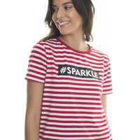 T.Shirt with Stripes | Red