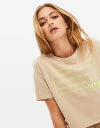 Printed T-Shirt | Cuban Sand
