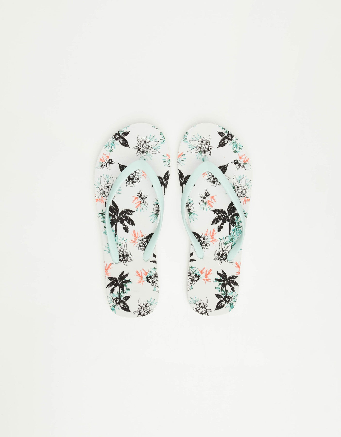 Floral Print Flip Flops with Matching Pochette | Multi Color
