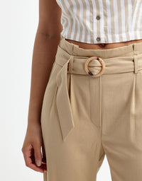 Linen Trousers | Indian Tan2