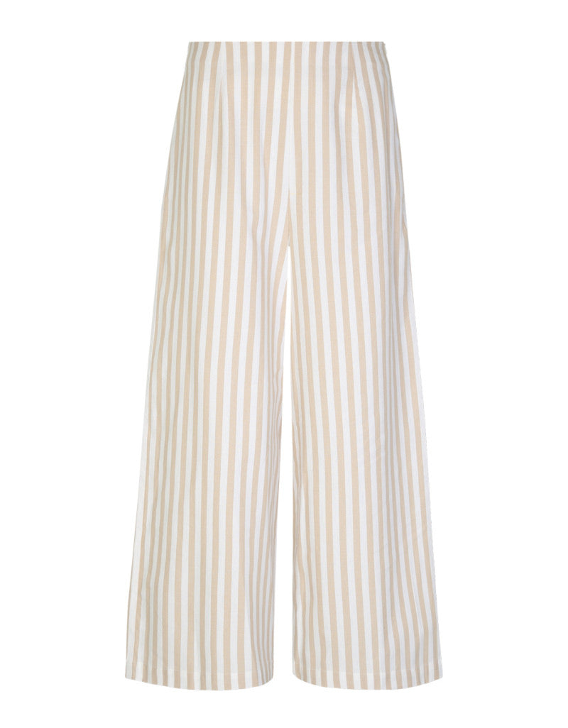 Wide Legs Trousers | White-Beige