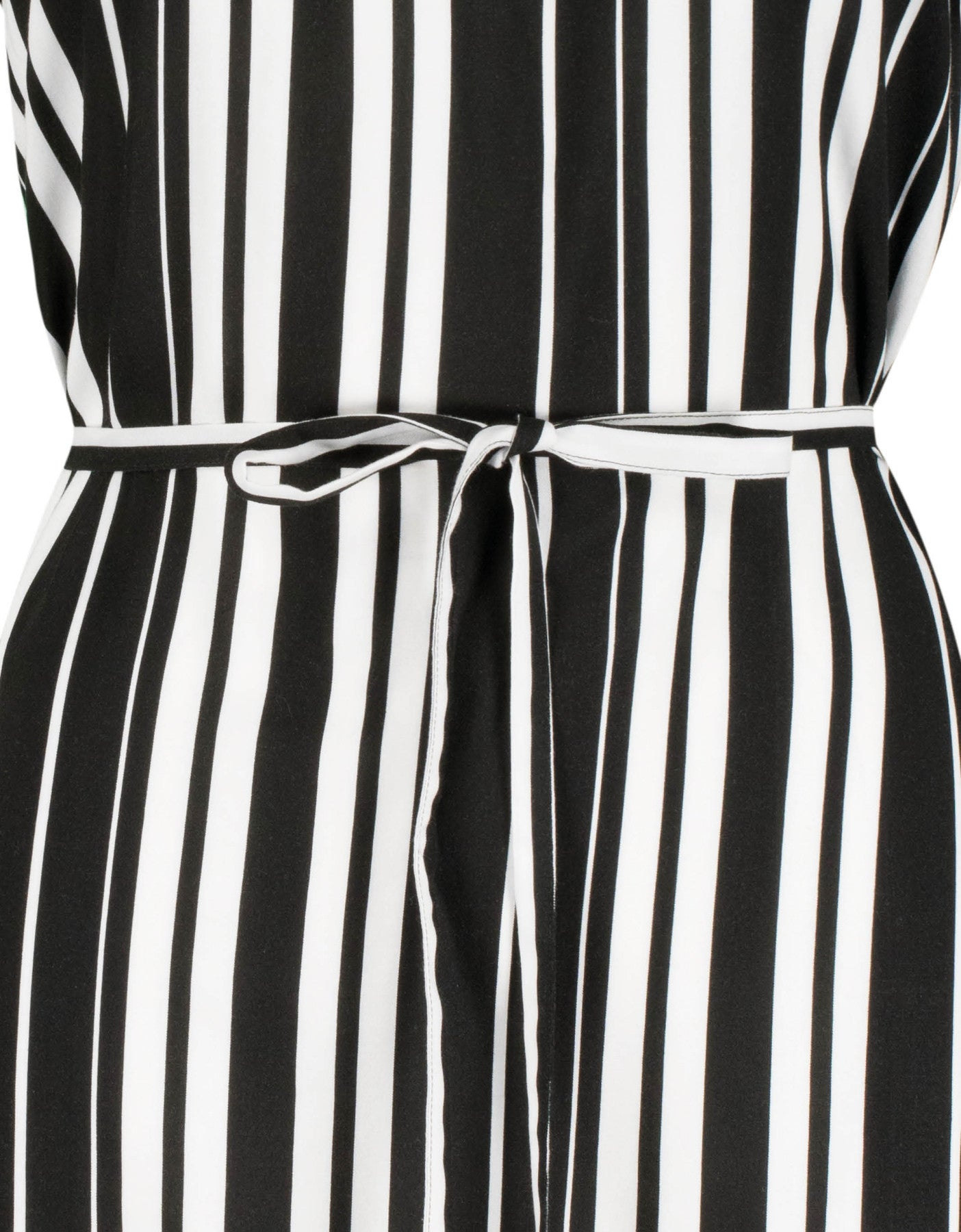 Striped Dress | Off White-Black