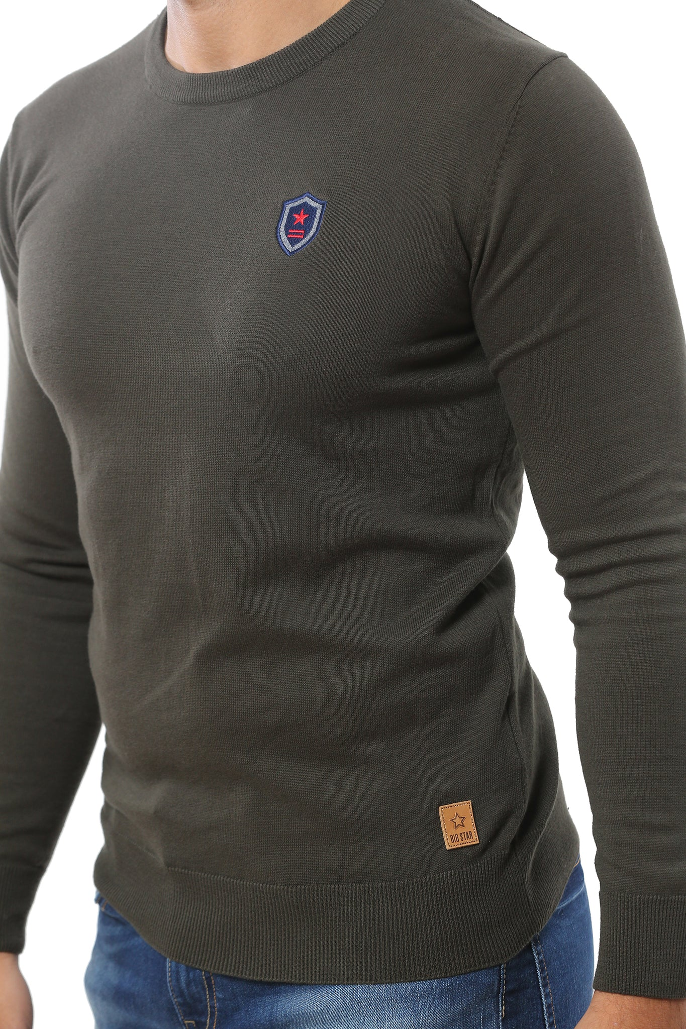 Basic Sweater Round Neck | Khaki