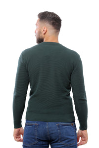 Sweater with Special Knitting | Dark Green