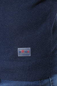 Sweater with Special Knitting | Navy