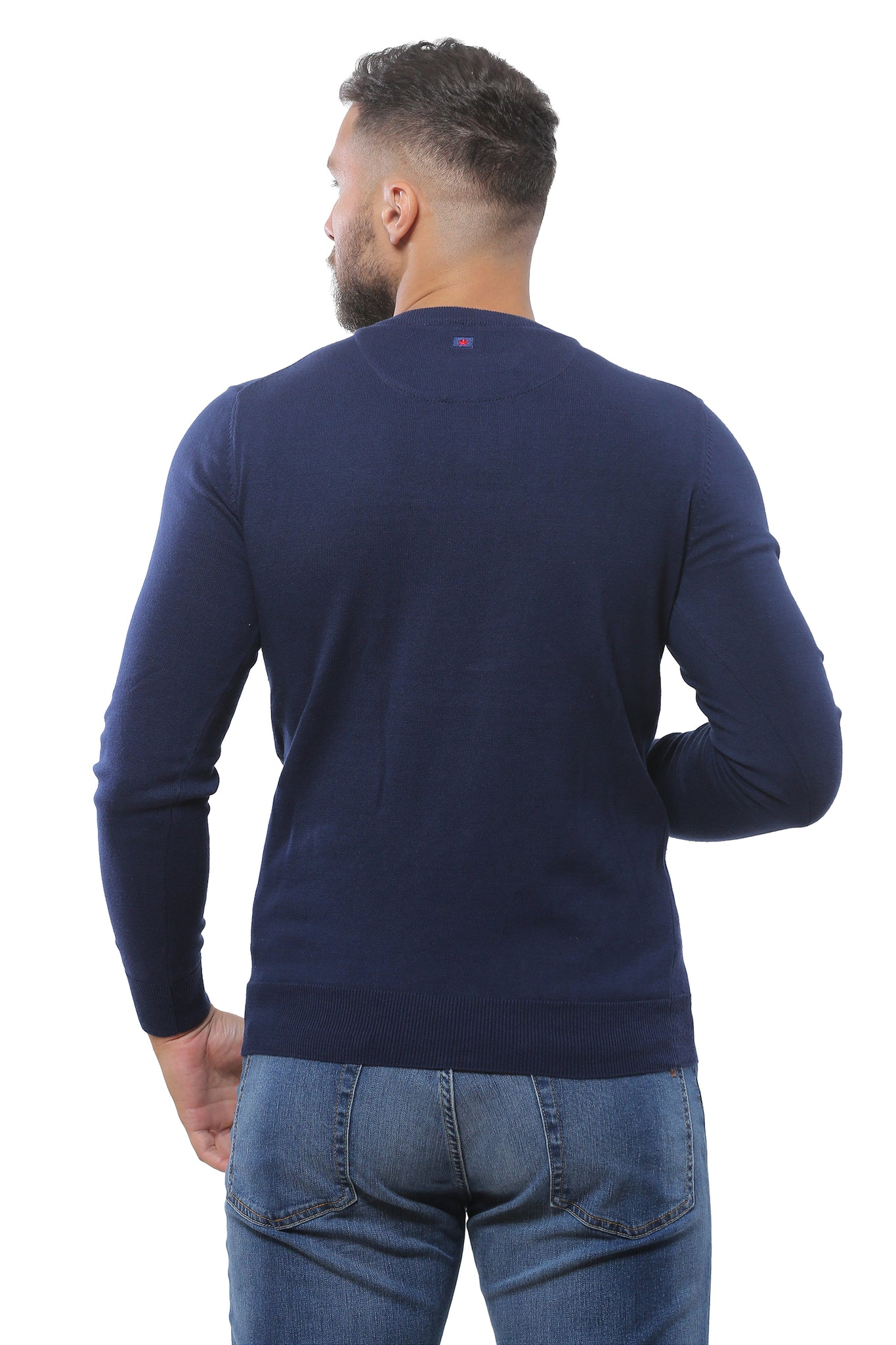 Basic Sweater Round Neck | Dark Navy