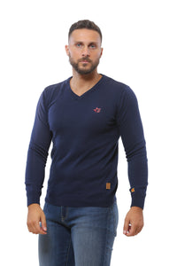 Basic Sweater V-Neck | Dark Navy