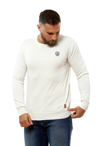 Basic Sweater Round Neck | White