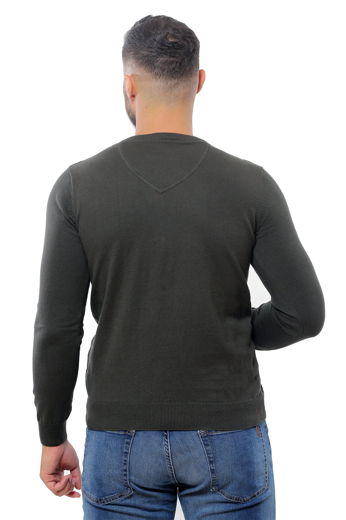 Basic Sweater V-Neck | Khaki