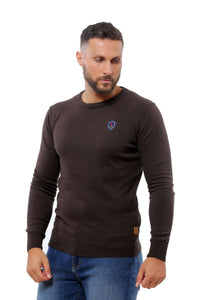 Basic Sweater Round Neck | Brown