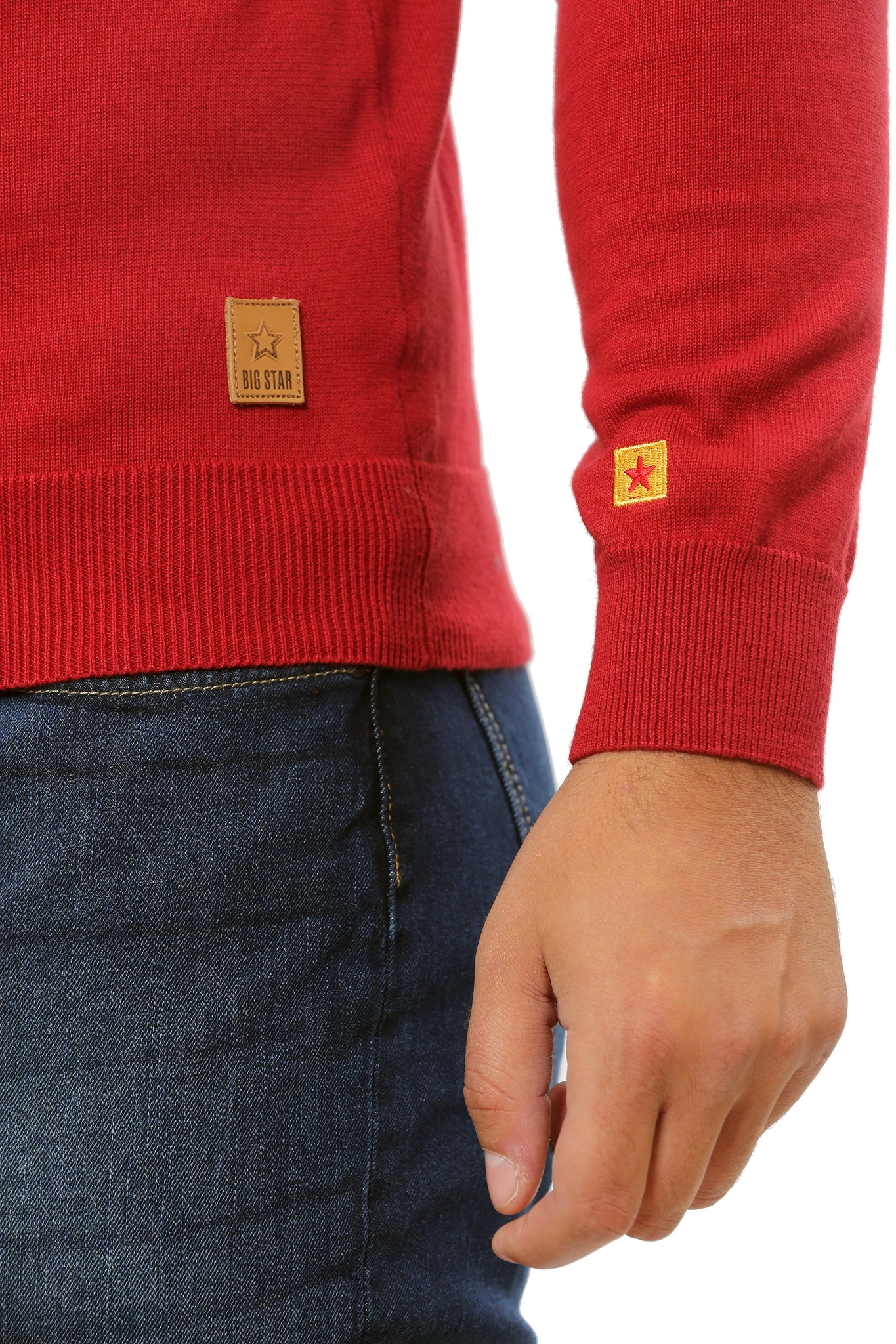 Basic Sweater V-Neck | Dark Red