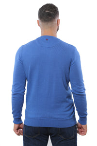 Basic Sweater Round Neck | Medium Royal Blue