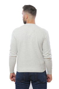 Sweater with Special Knitting | Off White