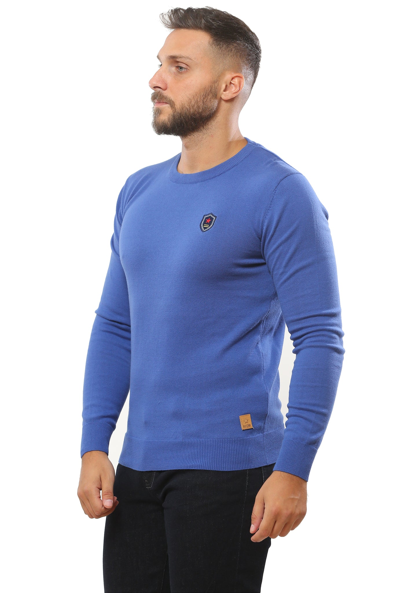 Basic Sweater Round Neck | Light Indigo
