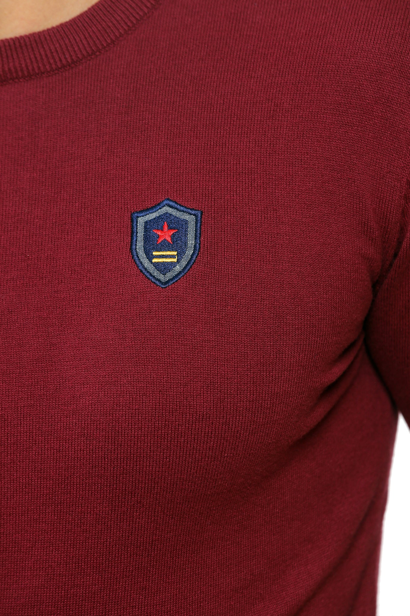 Basic Sweater Round Neck | Bordeaux