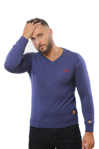 Basic Sweater V-Neck | Indigo