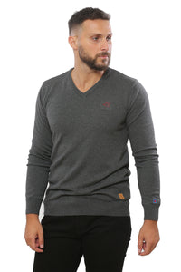 Basic Sweater V-Neck | Anthracite