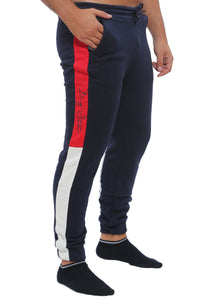 Slim Fit : Jogging Pant | Dark Navy with Red