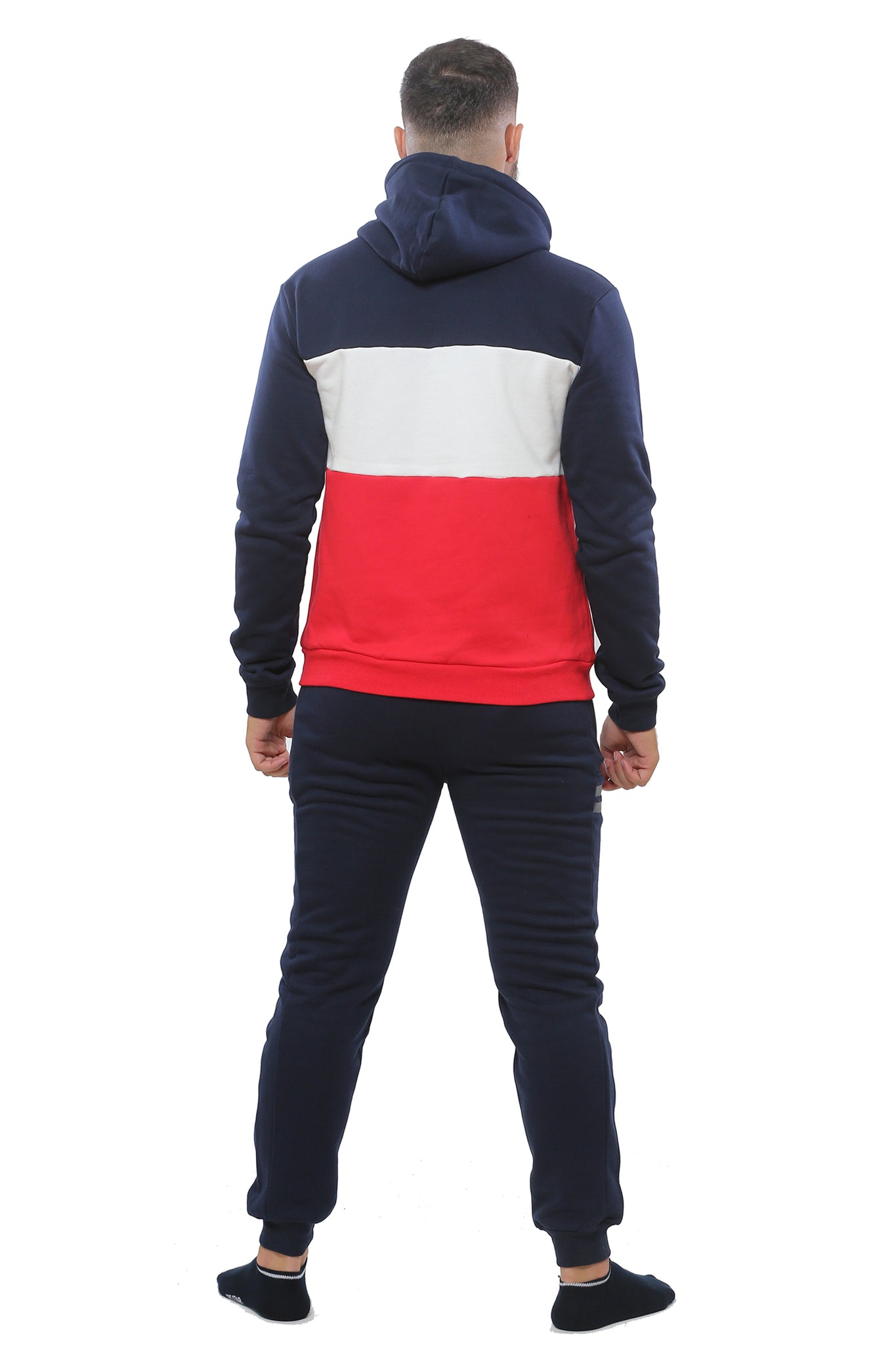 Hooded Sweatshirt | Dark Navy with Red and White