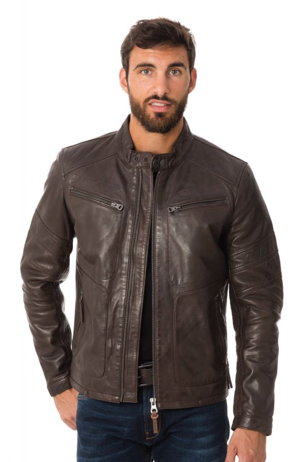Men's Leather Jacket | Brown