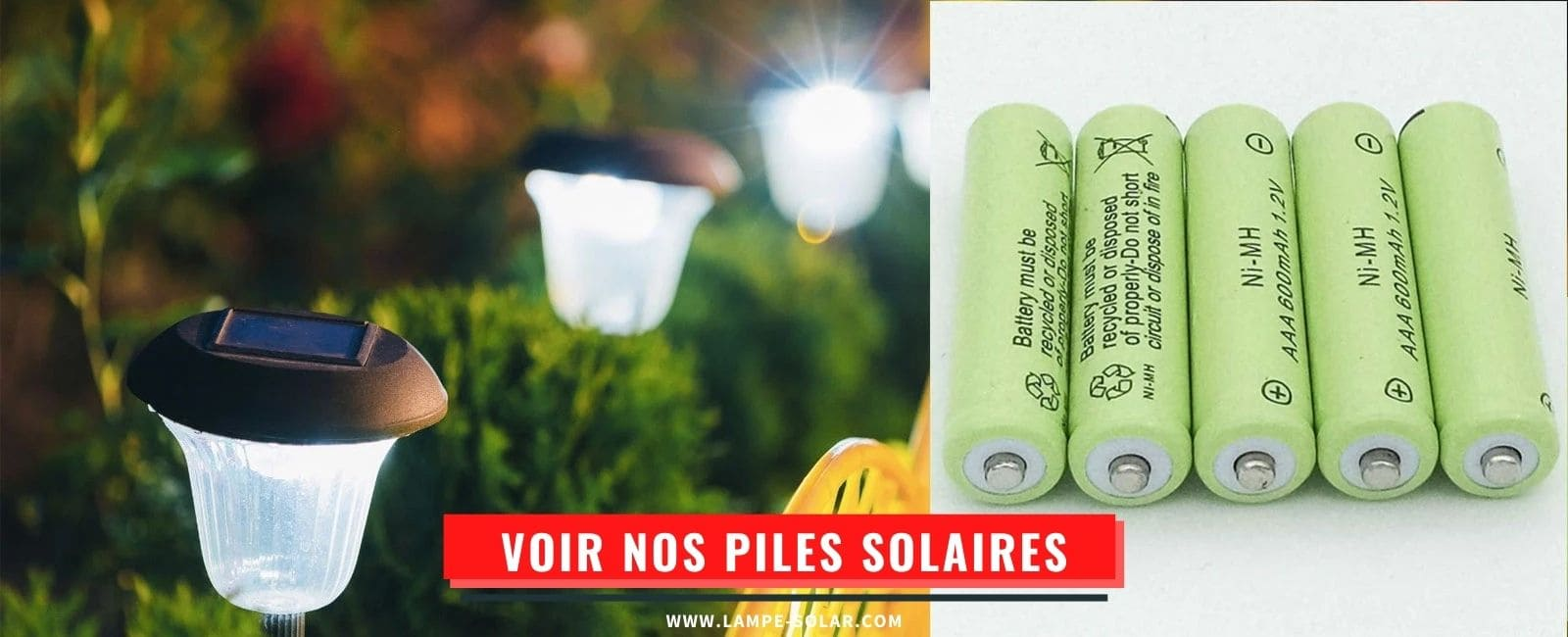 piles solaires rechargeable