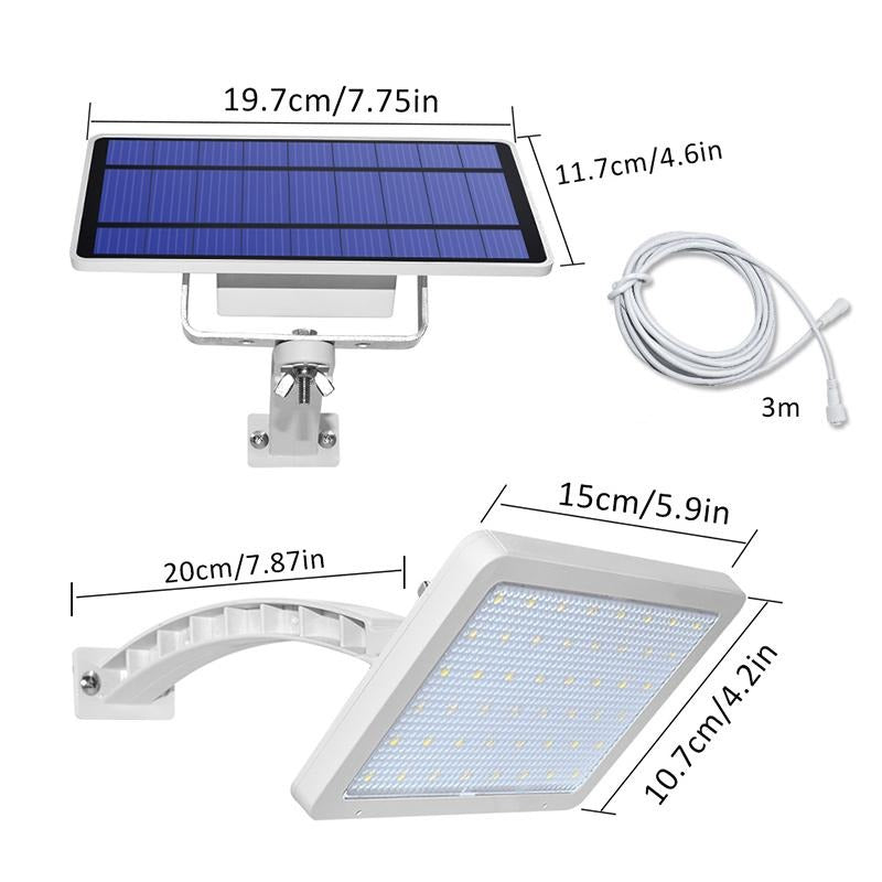 Lampe solaire murale 48 led