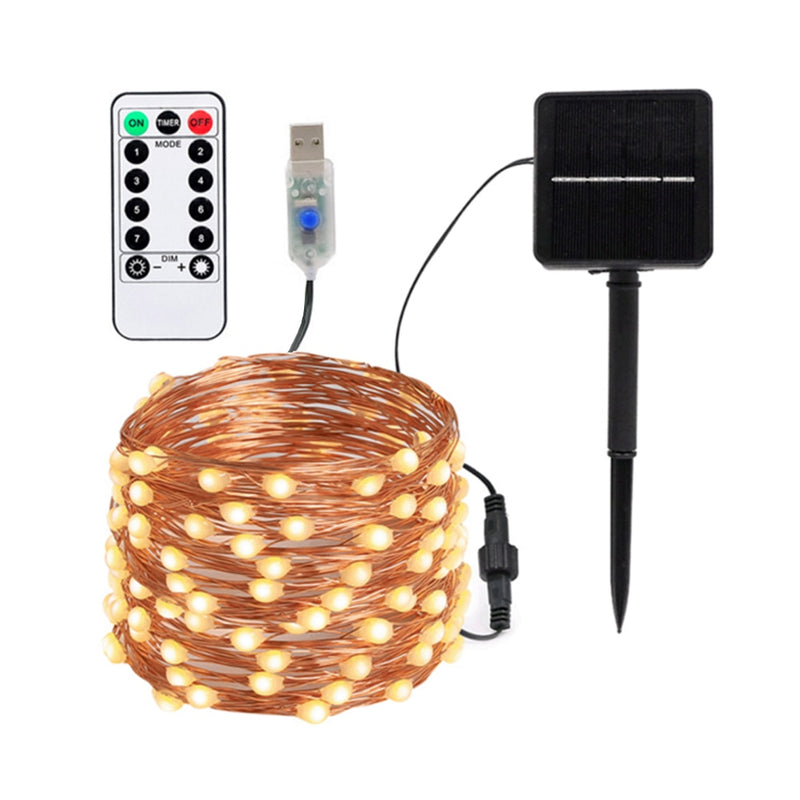 guirlande solaire 100 led