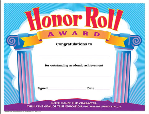 Awards: Honor Roll, Simple