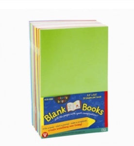 Blank Books: 5.5x8.5, assrt soft covers