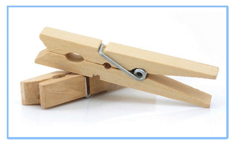 Wood Spring Clothespins