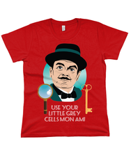 Load image into Gallery viewer, Hercule Poirot t shirt - women's fit tee