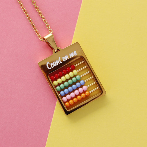 Abacus 'count on me' necklace