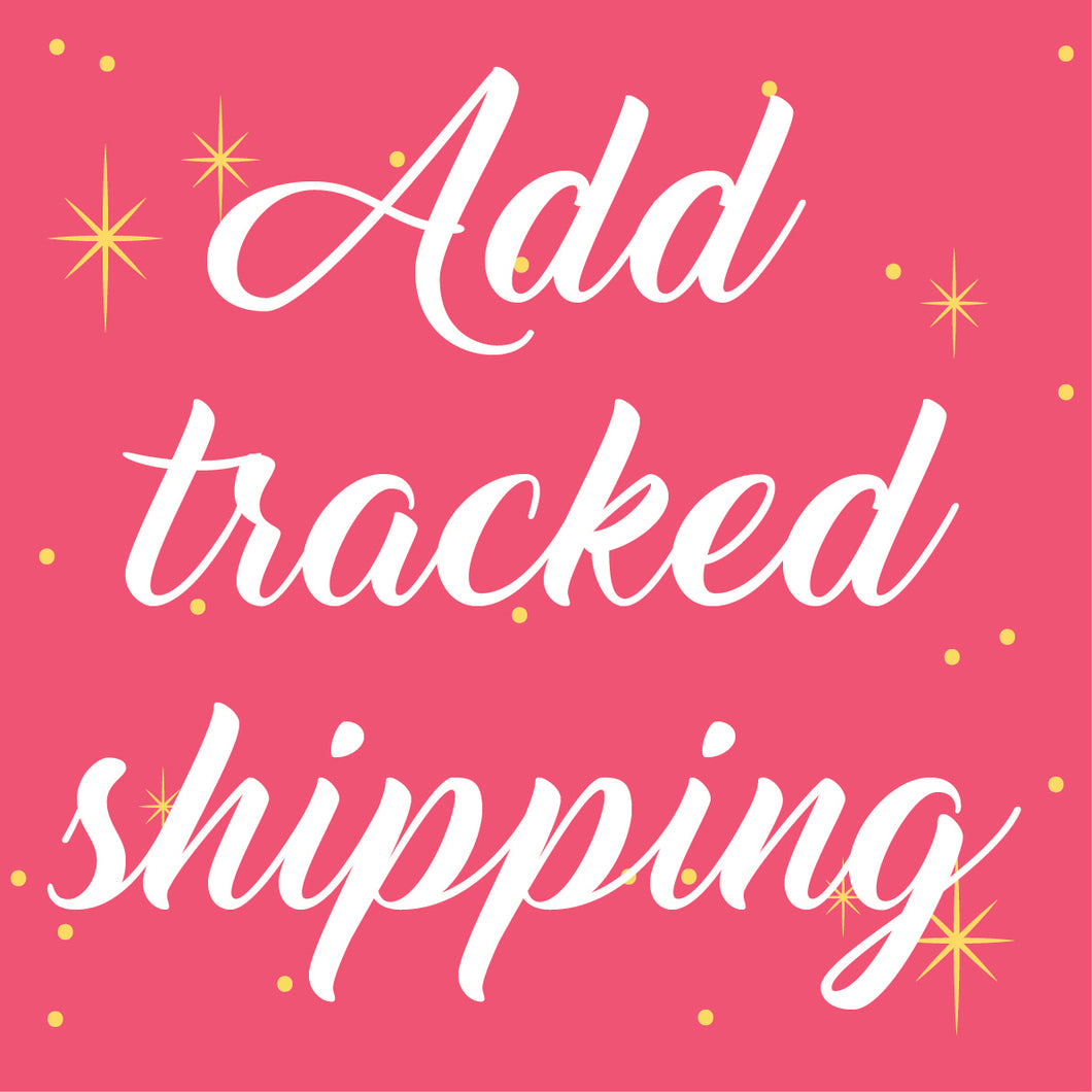 *Add tracked shipping*