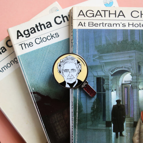 Agatha Christie engraved pin