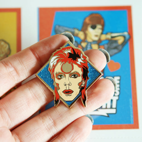Bowie pin - 3 colours