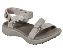 Load image into Gallery viewer, SKECHERS GO GOLF 600 TAUPE WOMEN'S SANDAL