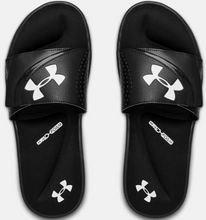 Load image into Gallery viewer, UNDER ARMOUR MENS BLACK IGNITE VI SLIDES