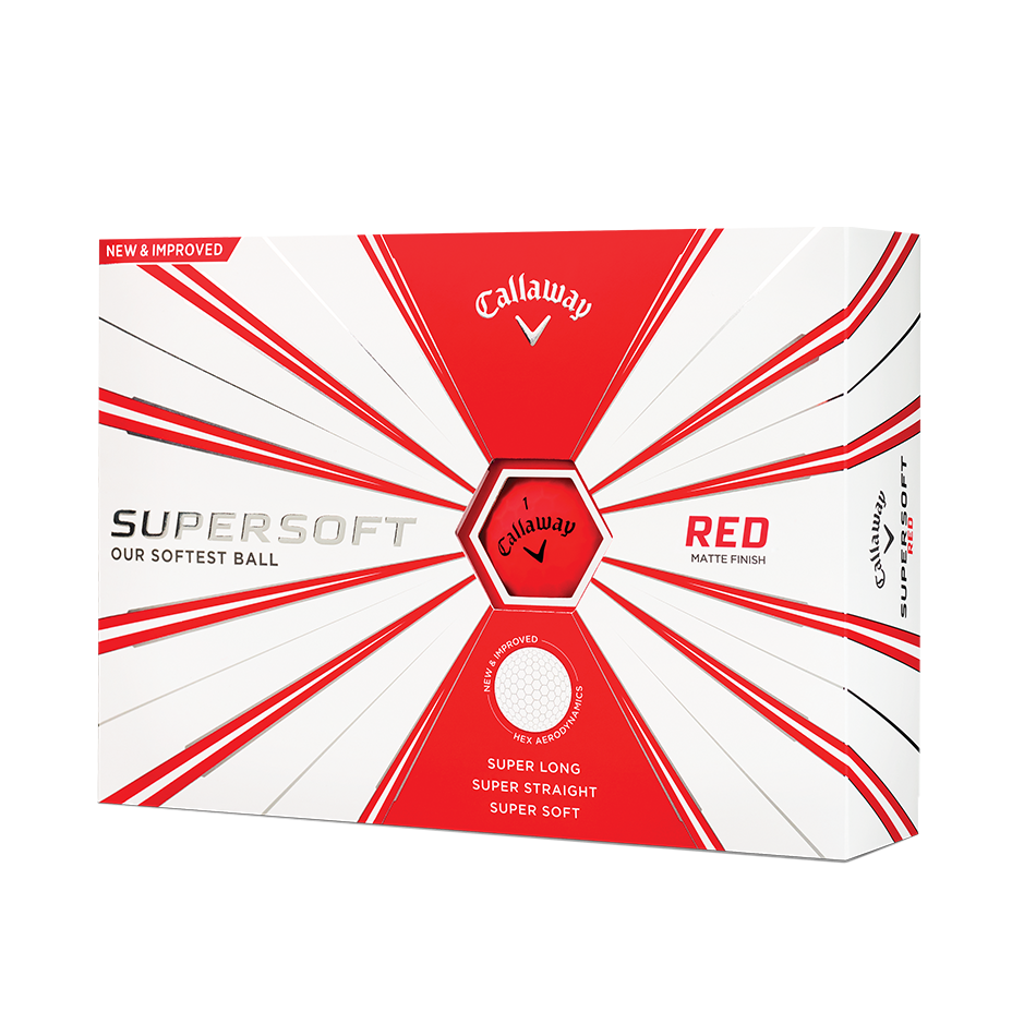 CALLAWAY SUPERSOFT 2020 GOLF BALLS MATTE RED